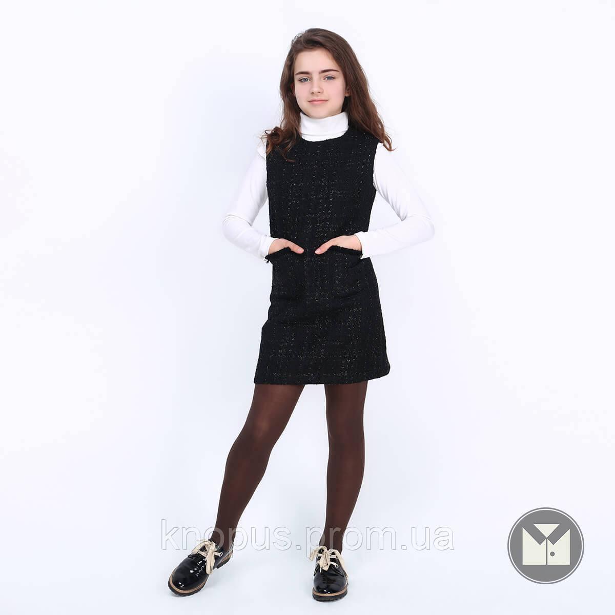 Сарафан для девочки, Lindsay, черный, Timbo, размеры 122-152
