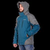 Мужская горнолыжная куртка Columbia OMNI-HEAT (3в1) 7797-4 бирюзового цвета