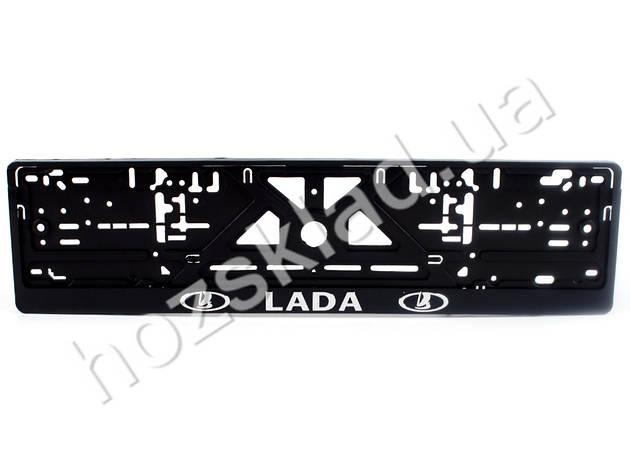 """Рамка номера пластик """"LADA"""" с хром. рельефной надписью 74288, фото 2"""