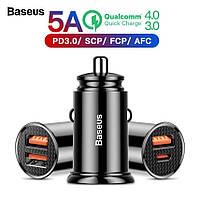 Автомобильное зарядное устройство BASEUS QC4.0, QC 3.0, Type-C, 30W 5A Max