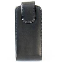 Чехол флип для Nokia C5-03 Nokia C5-06, кожаный, Piercedan, Черный /flip case/флип кейс /нокиа