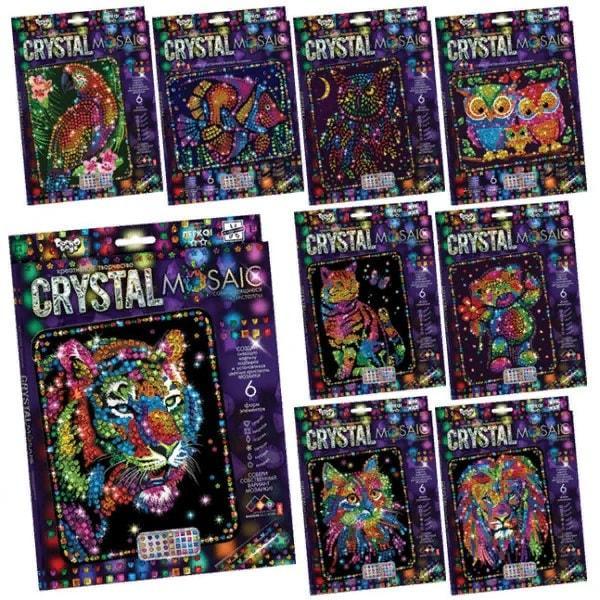 """KM44396 Набір креативної творчості """"CRYSTAL MOSAIC"""" (20), CRM-01-01,02,03,04...10"""
