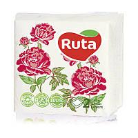 Салфетки сервировочные Ruta Double Luxe с принтом 2 слоя 24х24 см 40 шт Флора