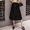 Женская длинная плиссированная бархатная юбка Coardiarn черная