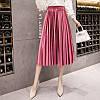 Женская длинная плиссированная бархатная юбка Coardiarn розовая