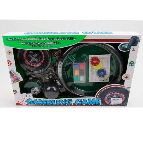 KM88130B Настольная игра   покер, рулетка, фишки, полотно, кубики, в кор-ке, 51-32-6см