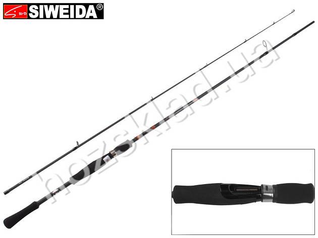 """Спиннинг штекерный Siweida """"Absolute"""" карбон IM7, 7 колец, 2-секционный 2,4м 10-40г, фото 2"""