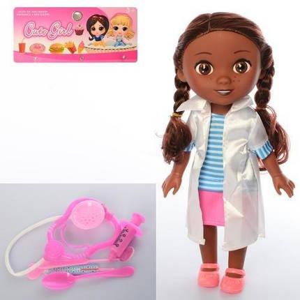KM9320-5 Кукла   ДП, доктор, стетоскоп, инструменты, в кульке, 17,5-35-7см, фото 2