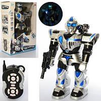 KM9897 Робот   р/у, 47см, звук, свет, ходит, танцует, стреляет,,на бат-ке, в кор-ке, 32-48-17см