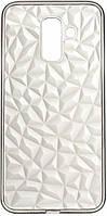 Чехол 2e Basic Diamond для Samsung Galaxy A6+ A605 Transparent/Black (2E-G-A6P-AOD-TR/BK)