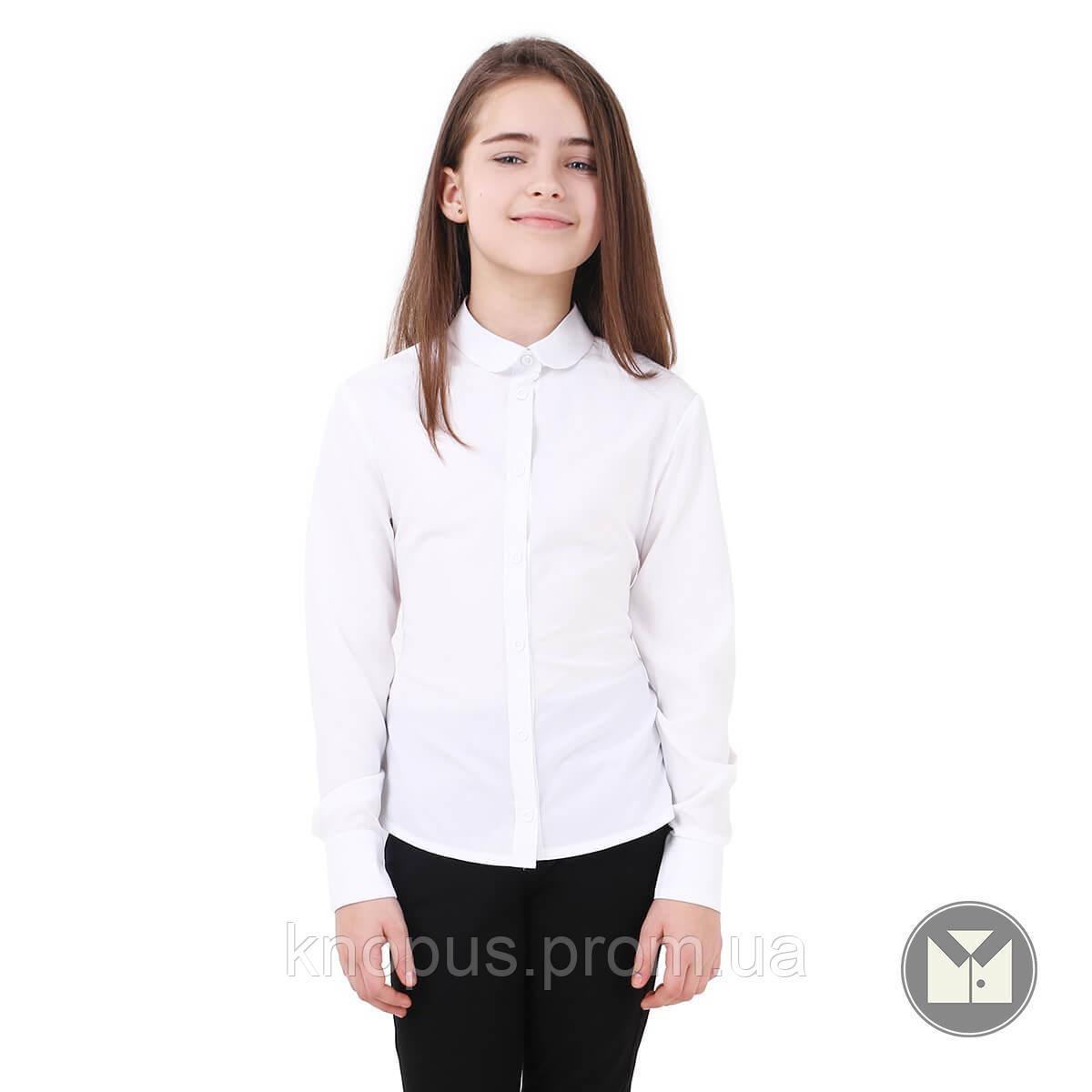 Блуза  белая с длинным рукавом Adelina, Тимбо