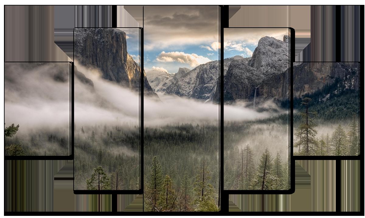 Модульная картина Interno Холст Долина Йосемити 158х90см (R1553XL)