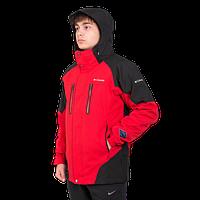 Мужская горнолыжная куртка Columbia OMNI-HEAT (3в1) 7797-1 красного цвета