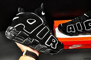 Кроссовки Nike Air More Uptempo арт 20616 (мужские, черные, найк)