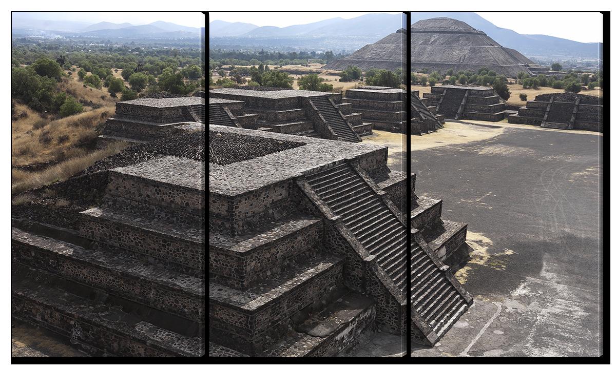 Модульная картина Interno Холст Город ацтеков 124х70см (R1554L)