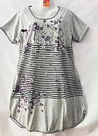 """Ночная рубашка женская с аппликацией, размеры XL-5XL """"SHELLY"""" купить недорого от прямого поставщика"""