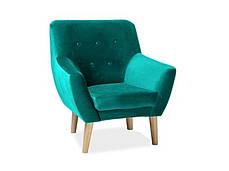 Кресло Signal Nordic 1 Velvet (синий, зеленый,розовый, серый, мята) (Signal), фото 3