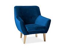 Кресло Signal Nordic 1 Velvet (синий, зеленый,розовый, серый, мята) (Signal), фото 2