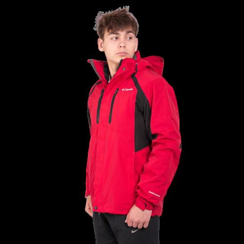 Мужская куртка Columbia OMNI-HEAT (3в1) 960527-5 темно-красного цвета