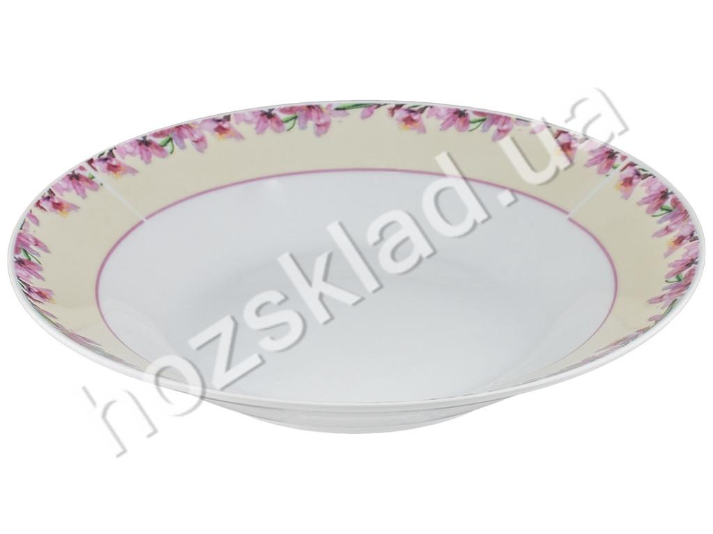"Тарелка суповая фарфоровая ""Розовый жасмин"" D20,2см, 525мл"