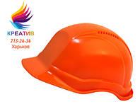 КАСКА строительная монтажная УНИВЕРСАЛ оранжевая и белая (от 50 шт.)