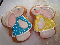 Пряничный заяц, зайчики, подарок ребенку, пряники на день рождения