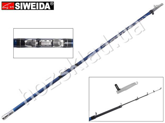 "Удочка Siweida ""Aston"" карбон IM7, 6 колец, 4-секционная 4м, 5-25г, фото 2"