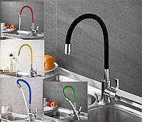 Смеситель кухонный SANTEP 13023 (в разных цветах) с силиконовым изливом
