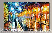 """Картина на холсте """"Дождливая погода'' ( 34х54 см )"""