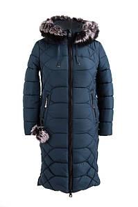 Женская зимняя куртка большого размера 48-56 волна
