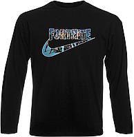"""Футболка с длинным рукавом Fortnite Battle Royale """"Nike Logo"""" (чёрная)"""