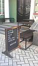 Меловой стенд двухсторонний, мимоход 95 * 70 см., фото 2