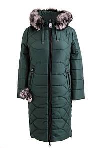 Женская зимняя куртка большого размера 48-56 зеленый