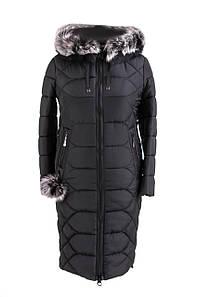 Женская зимняя куртка большого размера 48-56 черный