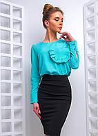 Комплект: Блузка с оборками на кармане
