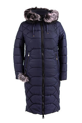 Женские куртки зима  от производителя  48-56 синий