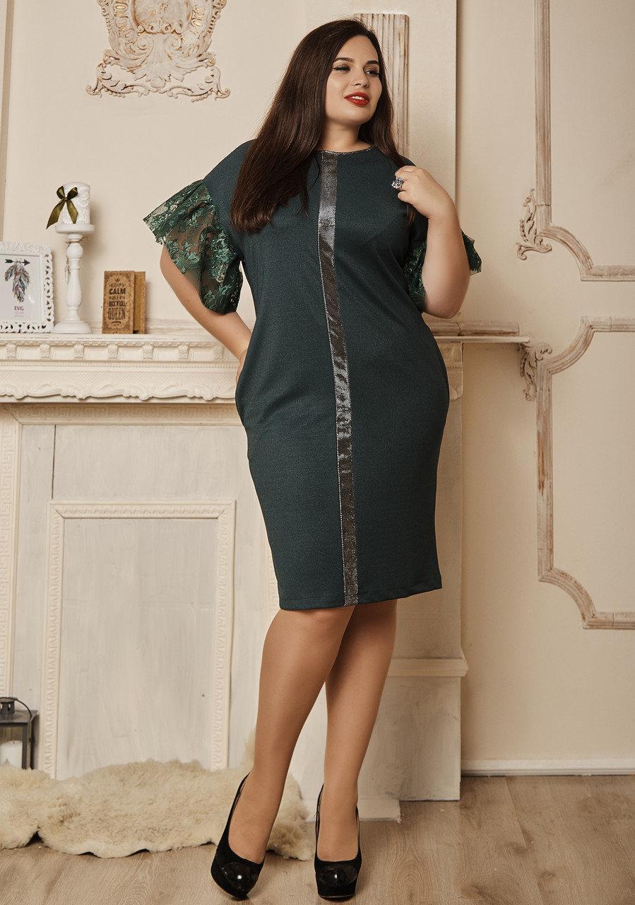 Бордовое нарядное женское платье