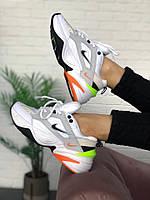 Мужские кроссовки Nike M2K Tekno Pure Platinum Black-Sail White(Топ качество)