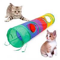 Игрушка для кота тоннель S-образный Rainbow, фото 1