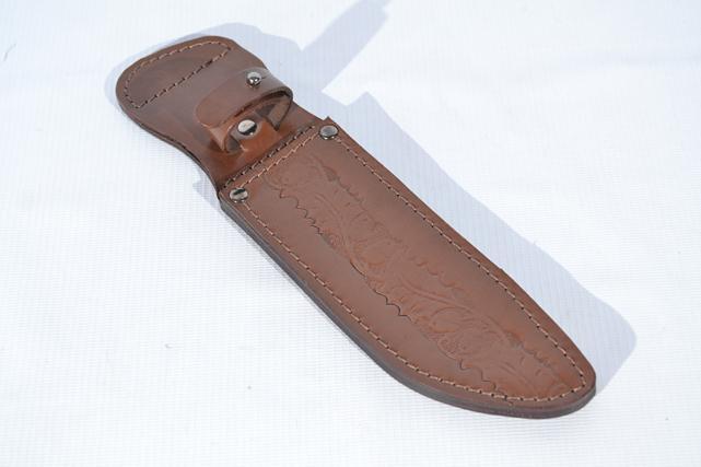 Чехол для ножа №8 кожаный коричневый