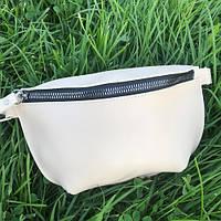 Жіноча сумка на пояс (бананка) з екошкіри крос боді, фото 1