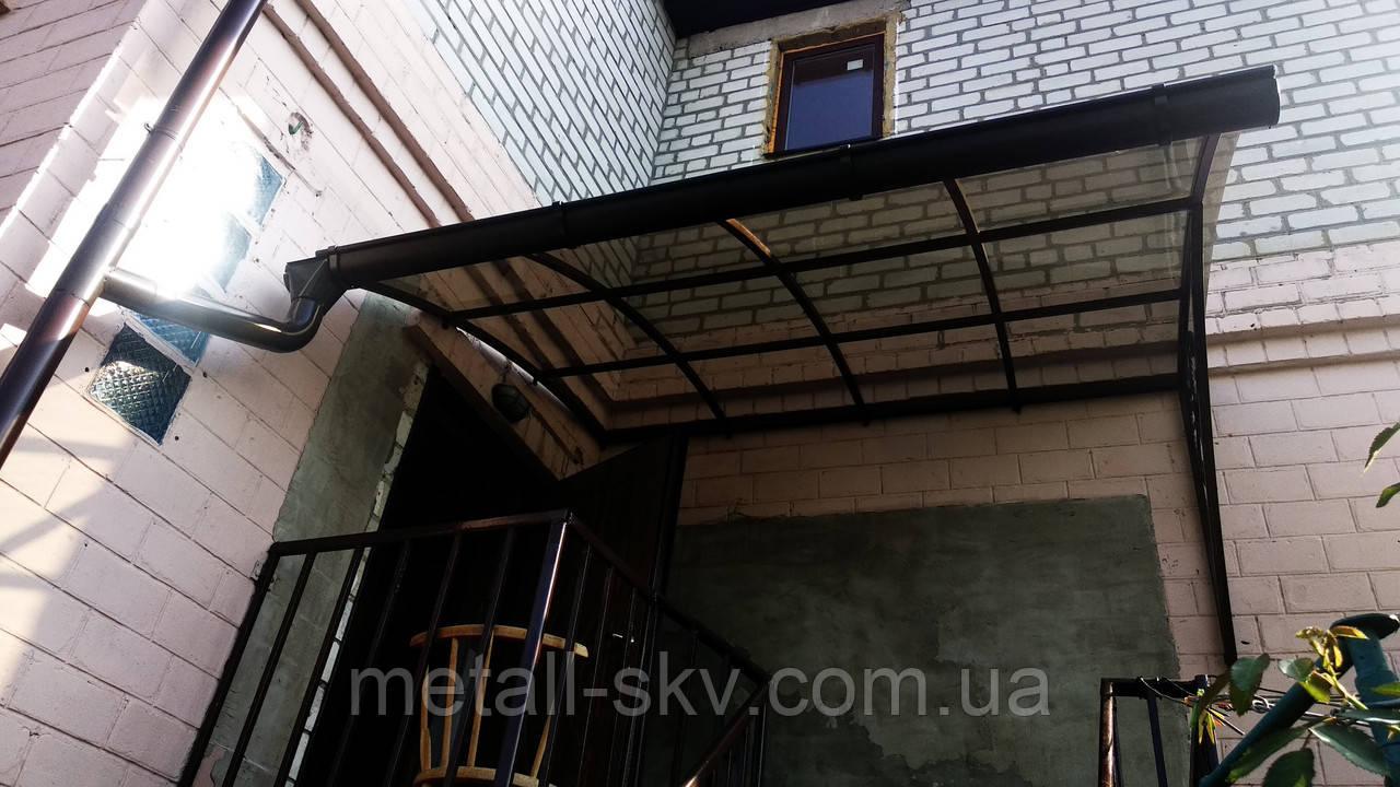 Навіс металевий прозорий полікарбонат)