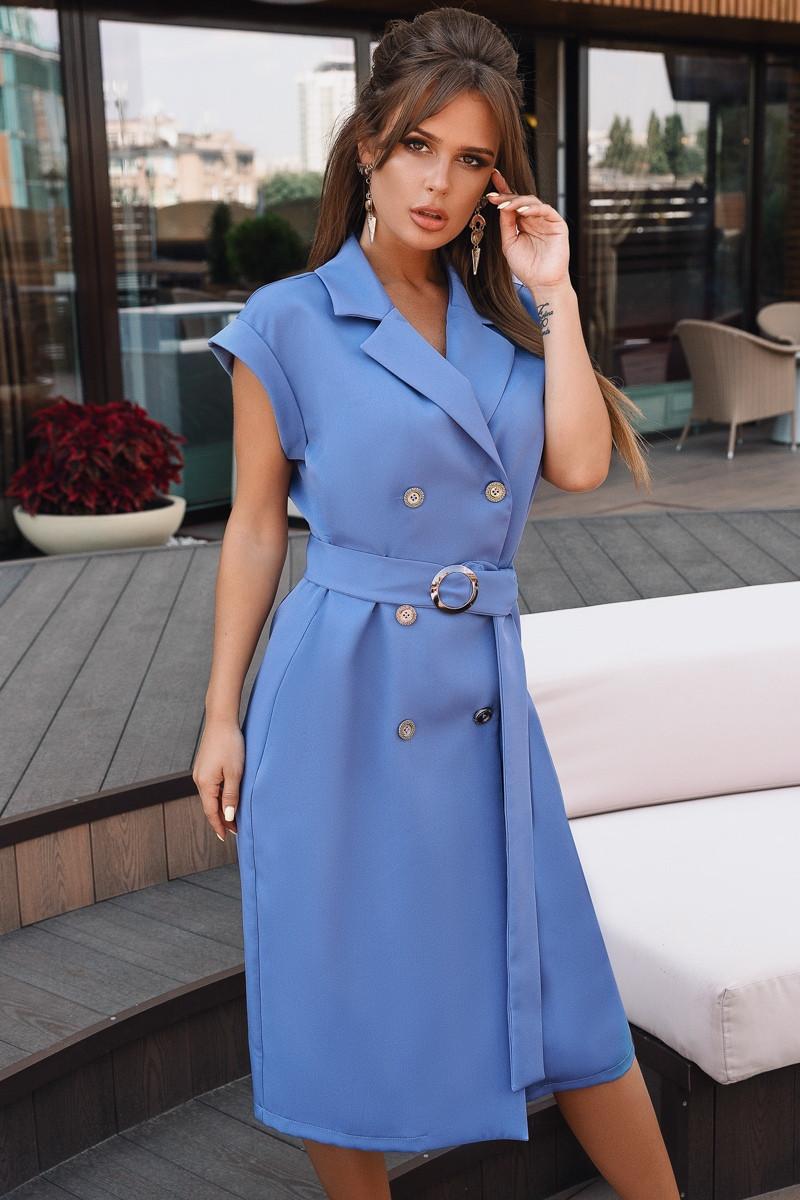 Женское летнее платье с коротким рукавом.Размеры:42-46.+Цвета