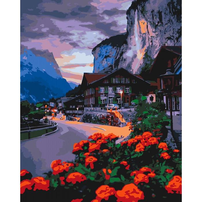 Живопись по номерам Лето в Швейцарии KH2262 Идейка 40 х 50 см