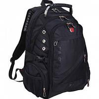 Городской водозащитный рюкзак Swissgear 8810 с AUX и USB Black (RO330AU)