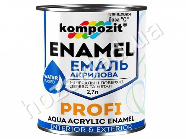 Эмаль акриловая PROFI База-С /глянцевая/ 2,7л, фото 2