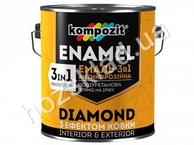 Эмаль антикоррозионная 3в1 Diamond Kompozit 2,5кг (Композит Диамант) Черный, фото 2