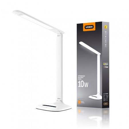 Лампа настільна 10W LED зі зміною якравості та кольору світла 220V VIDEX