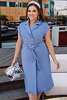 Женское летнее платье с коротким рукавов большого размера.Размеры:48-58.+Цвета, фото 1