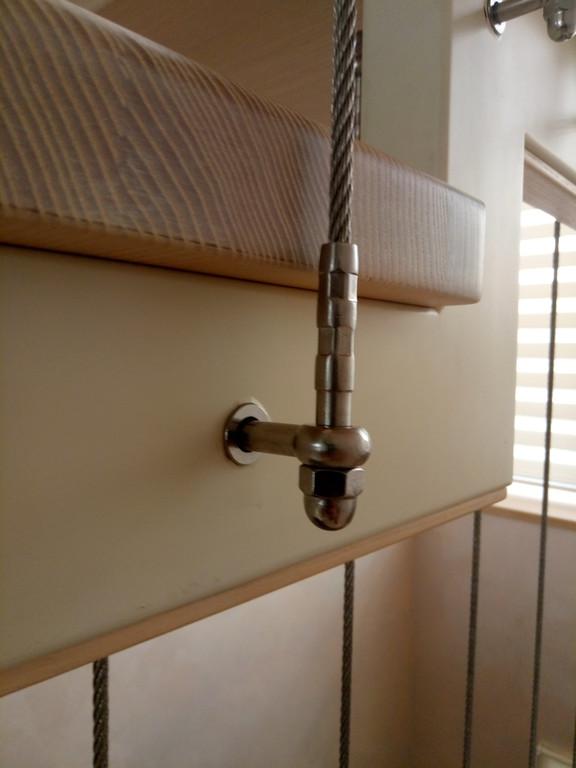 вертикальное тросовое ограждение винтовой лестницы. Запорожье, 2019 год. 14